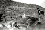 Excavation in progress at the entrance to Dún Aonghasa as part of the Western Stone Forts Project.