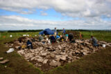 Excavation in progress at Carns, Co. Roscommon