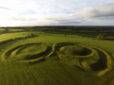 Aerial view of the Hill of Tara