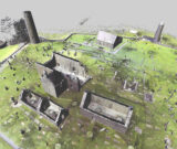 View of a 3D point cloud model of Clonmacnoise monastery recorded using a terrestrial laser scanner