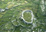 Aerial photograph of Dún Chonchúir fort on Inis Meáin, Aran Islands, Co. Galway
