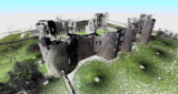 Point cloud model of Roscommon Castle captured with the Faro Focus 3D Scanner