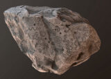 Render of 3D model of decorated stone at Knowth captured using the NextEngine 3D Scanner