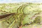 Reconstruction drawing of the Black Pig's Dyke